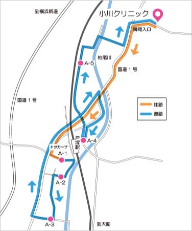 Aコース(戸塚駅西口・東口循環)